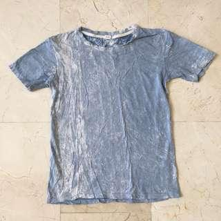 Blue/White Tie Dyed T-Shirt #single11