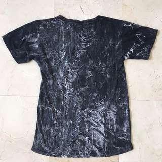 Black/White Tie Dyed T-Shirt #single11
