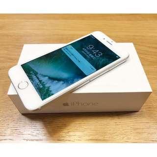 APPLE 蘋果 iPhone 6 銀色 64G 玻璃貼 盒裝 高雄可面交 iOS 10.3