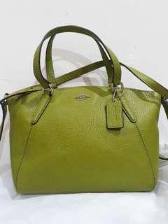 Coach Mini Kelsey Yellow Green Brand Bew With Tag Price