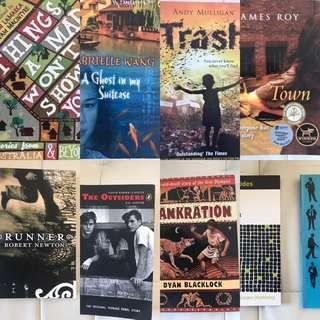 English novels yr 7 to Yr9