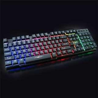KINGANGJIA Rainbow LED Backlight Gaming Keyboard X100