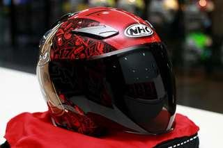Nhk Karel Abraham Special Edition Glossy Red R1 Double Visor Helmet