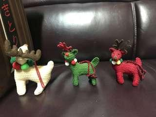 聖誕小鹿(1set3個)
