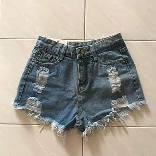 (BNWT) Ripped Denim Shorts