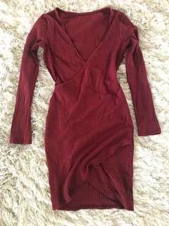 Burgundy Cross Dress