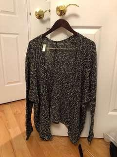 BRANDY MELVILLE salt and pepper loose cardigan (O/S)