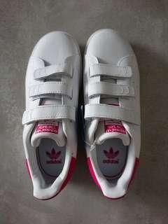 78464079c7c9df Adidas Stan Smith Originals White Pink Kids Youth Size