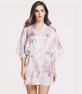 White Floral Robes