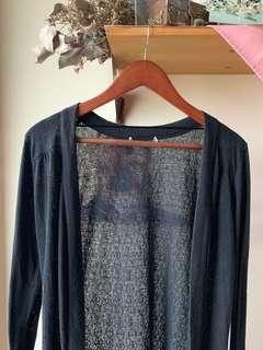 CO knit tribal black cardigan