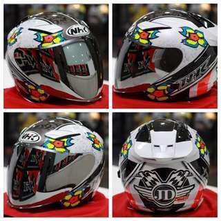 Nhk Jules Danilo White Edition R1 Double Visor Helmet