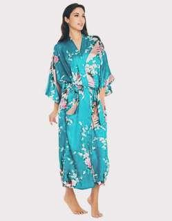 Aqua Blue Floral Robes