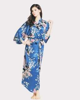 Midnight Blue Floral Robes