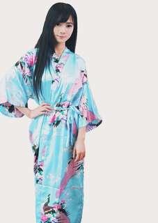 Baby Blue Floral Robes