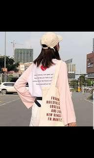 BNWT INSTOCK Ulzzang Side Heart Back Broken Love Design Korean Top chuu In Pink/White