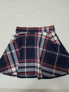 🚚 CO a-line plaid mini skirt