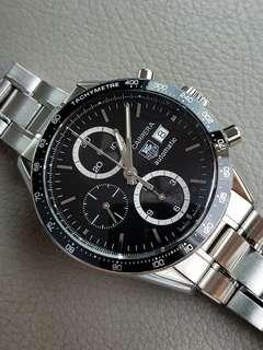 Tag Heuer Carrera CV2010 serviced with receipt mint condition
