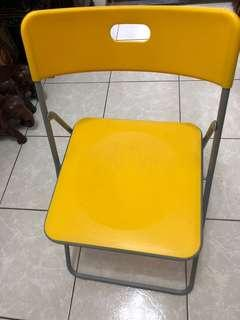 IKEA 黃色折疊椅(絕版品)