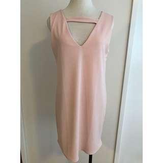 BOOHOO Pink Choker Shift Dress