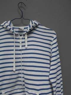 Jaket hoodie uniqlo striped