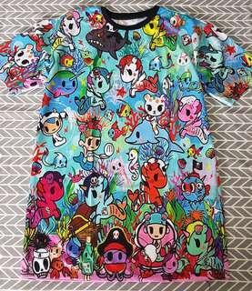 Brand New ~ Kawaii Cartoon Print Dress
