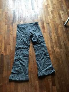 Armani Exchange Light wool grey pants with cuffs