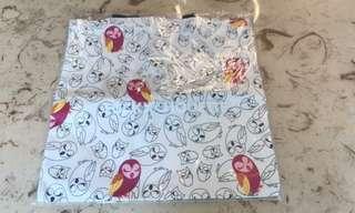全新貓頭鷹 tote bag 連膠袋