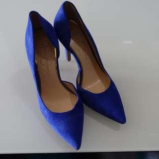 Jessica Simpson Blue Suede Heels Size 7 - Looks BNEW