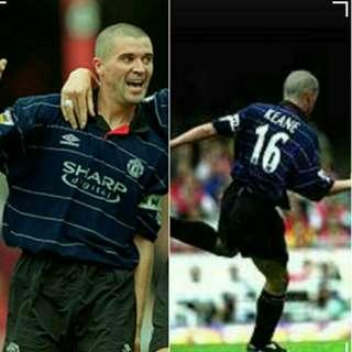 🚚 Authentic Umbro Manchester United 1999/00 Jersey Size L Roy Keane 16