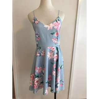 Floral Cross-Backed Dress