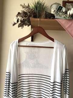 Knit nautical striped cardigan