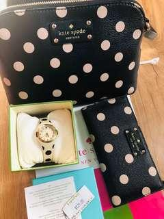Authentic Kate Spade Bag, Wallet and Watch bundle