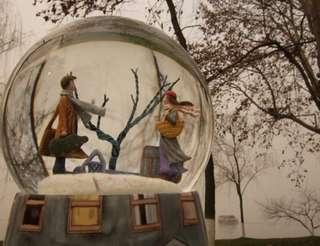 Musical Snow Globe (turn left. turn right)
