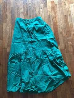 Green button skirt from Korea