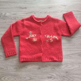 🚚 愛的世界8歲女童毛衣罩衫外套 二手