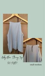 Baby Blue String Top