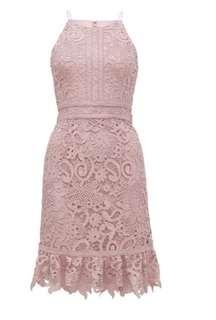 Forever new blush dress size 8