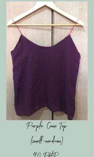 Purple Cami Stringed Top