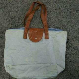 Typo Tote Bag Denim