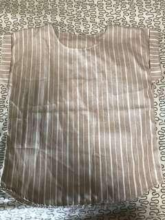 *FREE* Khaki Stripe Butter Work Top