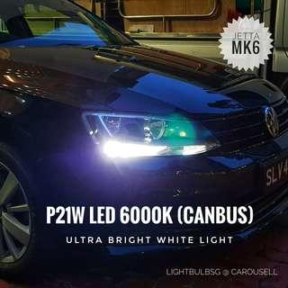 Swap out your stock yellow DRL to these stylish white canbus LED. No error message after conversation. Available for volkswagen scirocco and jetta. P21W bulb.
