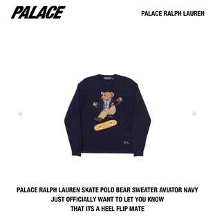 Size L Palace Ralph Lauren Skate Polo Bear Sweater Kickflip