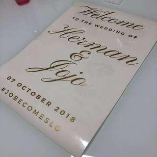 Customised decal for wedding box/decor/mirror/wall etc
