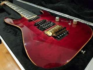 Jackson USA DK1 Dinky Elite DCR Deep Candy Red 1996 - - - Ultra-Rare Vintage American Hot Rod Super Strat - - - (ESP Ibanez Caparison Ernie Ball Music Man Gibson PRS Fender Strat Stratocaster Marshall Mesa Boogie Engl EVH Orange electric guitar)