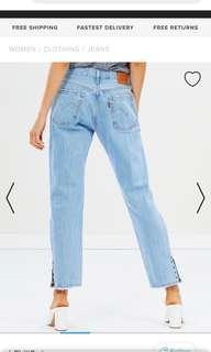 Levi's 501 crop detail jeans