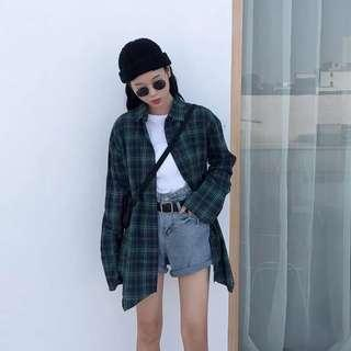 🚚 Green Checkered/Plaid Flannel Outerwear