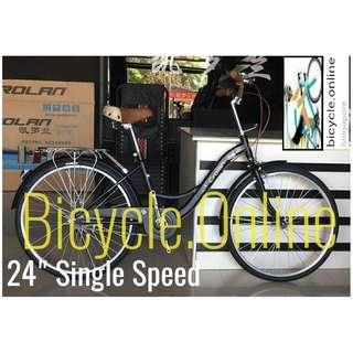 "24"" Unisex Cruiser City Bike. Single Speed *minimum maintenance! Brand New Bicycle."