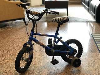 Kid bicycle with training wheels