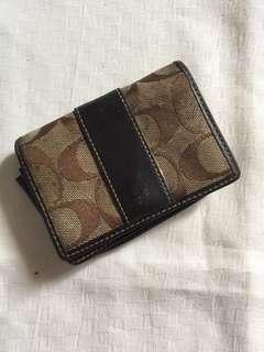 Auth Coach Card Wallet