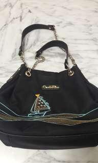 ⚀Preloved Carlo Rino Ship Design Handbag